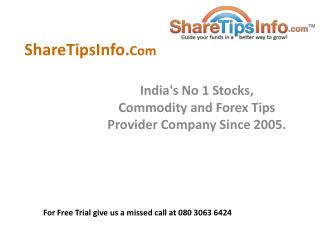 Get Intraday trading tips From Indian stock market