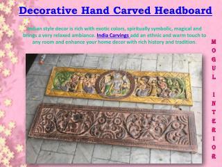 Decorative Hand Carved Headboard