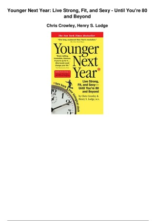 Younger Tomorrow PDF EBook Free Download