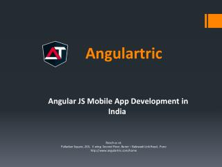 Angular JS Development, Website Development Company in India - Angulartric
