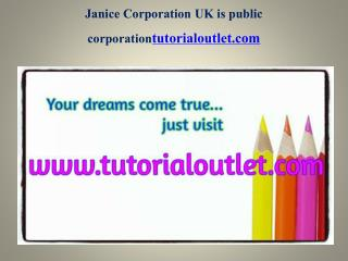 Janice Corporation Uk Is Public Corporation Seek Your Dream /Tutorialoutletdotcom