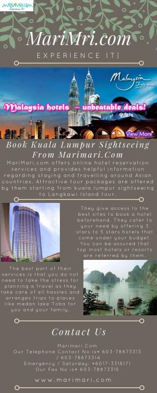 Book Kuala Lumpur Sightseeing From Marimari.Com