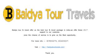 Baidya tour & travel