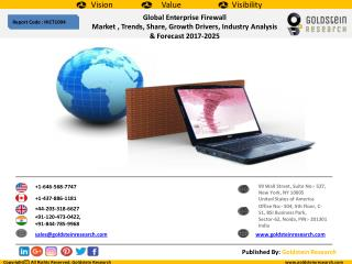 Global Enterprise Firewall Market , Trends, Share, Growth Drivers, Industry Analysis & Forecast 2017-2025