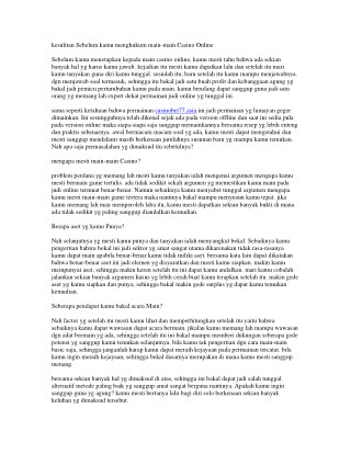 CASINOBET77 SITUS JUDI ONLINE AMAN & TERPERCAYA
