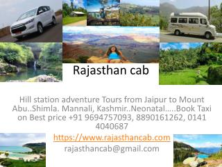 Local Jaipur sightseeing | Rajasthan tour packages | Car rental | Book Hotel