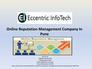 ORM Services Company In Pune,India - Eccentric Infotech