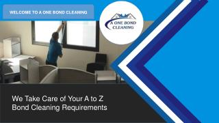 Bond Cleaning Brisbane - A One Bond Cleaning