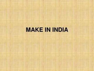 PPT make in India