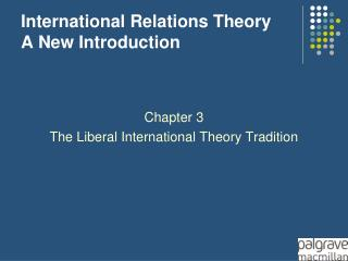 International Relations Theory A New Introduction