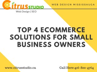 Top 4 Ecommerce Solutions For Small Business Owners