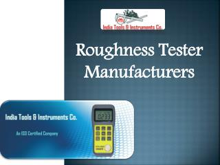 Roughness Tester Manufacturers