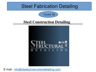 Structural Steel Detailing Services - Steel Construction Detailing