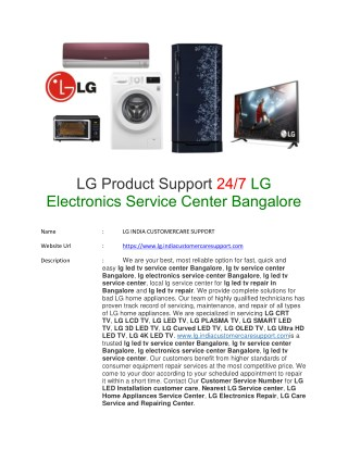 PPT - lg tv service center bangalore PowerPoint Presentation - ID