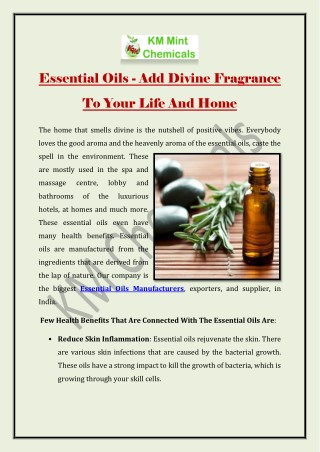 Essential Oils - Add Divine Fragrance To Your Life And Home