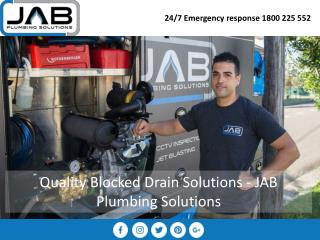 Quality Blocked Drain Solutions - JAB Plumbing Solutions