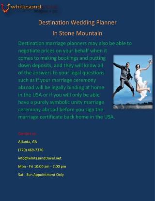 Destination Wedding Planner in Stone Mountain