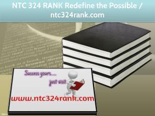 NTC 324 RANK Redefine the Possible / ntc324rank.com