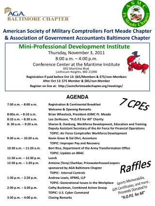 American Society of Military Comptrollers Fort Meade Chapter  Association of Government Accountants Baltimore Chapter