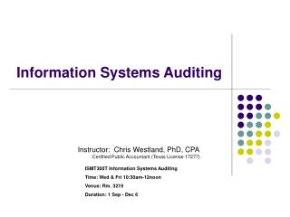 Information Systems Auditing