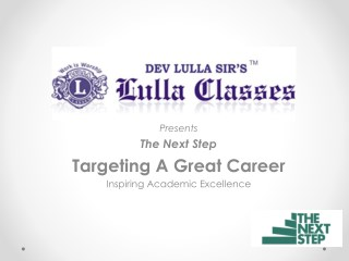 Career Guidance - Orientation for 10th Standard Students - Lulla Classes