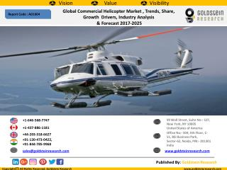 Global Commercial Helicopter Market , Trends, Share,  Growth  Drivers, Industry Analysis   & Forecast 2017-2025