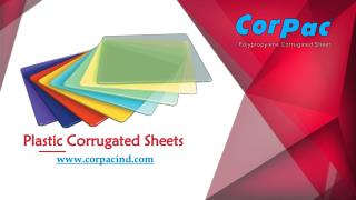 Corrugated Plastic Sheets & Box Manufacturer & Exporter