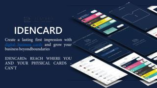 How Idencard digital business card app for iPhone and Android work