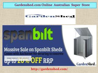 Garden Sheds, Garage Sheds, Sheds | Gardenshed.com