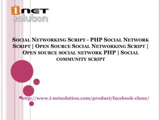 Social Networking Script - PHP Social Network Script