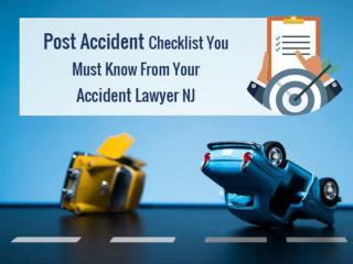 Post Accident Checklist You Must Know From Your Accident Lawyer NJ