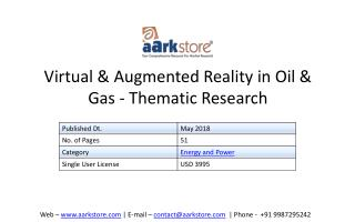Virtual and Augmented Reality in Oil & Gas - Thematic Research