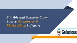 Sellacious- Open Source eCommerce & Marketplace Software