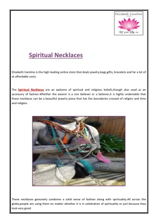 Spiritual Necklaces For Calmness Of Mind