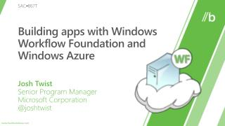 Building apps with Windows Workflow Foundation and Windows Azure