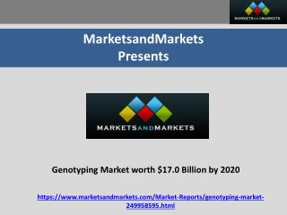 Genotyping market worth $17.0 billion by 2020