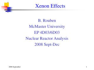 Xenon Effects