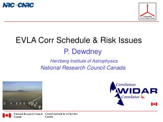 EVLA Corr Schedule & Risk Issues