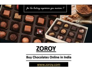 At Zoroy Buy Chocolates for Gifts Online