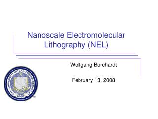 Nanoscale Electromolecular Lithography (NEL)