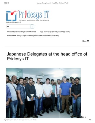 Japanese Delegates at the Head Office | Pridesys IT Ltd