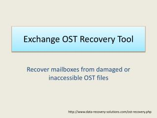 Exchange OST Recovery tool