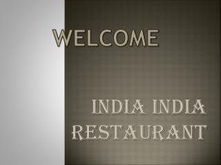 Get the best Indian Restaurant in London