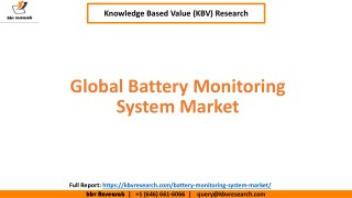 Global Battery Monitoring System Market Growth