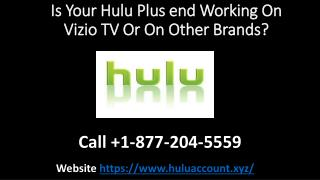 Is Your Hulu Plus end Working On Vizio TV Or On Other Brands?