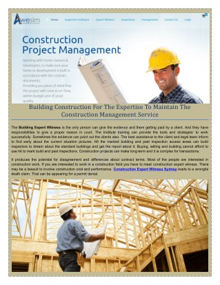 NCAT Building & Construction Expert Witness Report Awesim