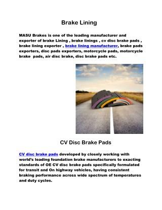 automotive brake pads