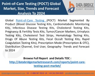 point of care testing market Development Opportunities and Trends in Global Industry 2018 to 2025