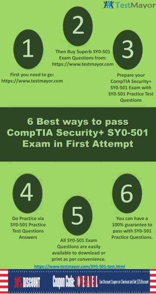 ass CompTIA Security  SY0-501 Exam in first attempt with valid SY0-501 Exam Questions