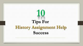 10 Tips for History Assignment Help Success